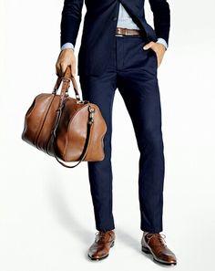 mörkblå kostym skor