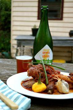 Seven Sheds Kentish Ale + Beer braised goat shanks