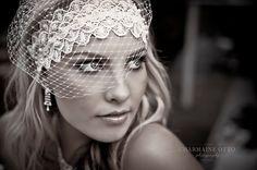 Looooove this face veil/fascinator