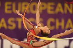 Dina Averina (Russia) won gold in ribbon finals at European Championships (Budapest) 2017