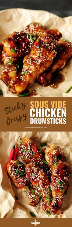 These Chinese-inspired sous vide chicken drumsticks are addictive in their own right, with each bite of tender, juicy meat and crispy skin. Walnut Chicken Recipe, Easy Chicken Recipes, Drum Sticks, New Recipes, Healthy Recipes, Walnut Recipes, Family Recipes, Asian Recipes, Dinner Recipes