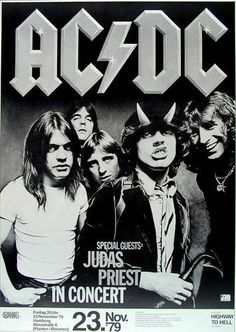 AC/DC concert poster from Germany, 1979, this is one of the tours I saw them on.
