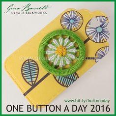 Day 66: Daisy #onebuttonaday by Gina Barrett
