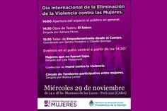 Actividades culturales por el Día Internacional de la Eliminación de la Violencia contra la Mujer