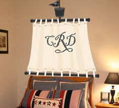 Can sew pirate sails as Valances for the boy's windows.
