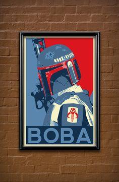 Boba Fett Poster by Matt Rabalais