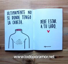 Imagenes con dibujos Ideas Aniversario, Wreck This Journal, Boyfriend Anniversary Gifts, Gifts For Your Boyfriend, More Than Words, Love Messages, Love Gifts, Love Book, Funny Images