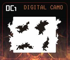 CAS Professional Airbrush Stencil - DC1 - 'Digital Camo'