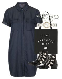 """""""Outfit with a shirt dress for summer"""" by ferned ❤ liked on Polyvore featuring Topshop, Toga, Burberry and Miss Selfridge"""