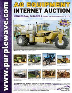 Ag Equipment Auction October 8, 2014 http://purplewave.com/a/141008