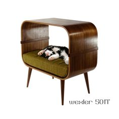 Mid-century modern cat furniture by cairudesign on Etsy