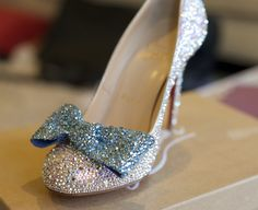 Louboutins I strassed using 5 different sizes of swarovski crystals and e6000 glue. There are over 6,000 AB crystals between the pair (not including the bow clips, which are removable).