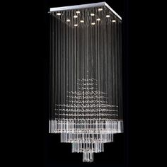 BYB® Modern Chandelier Rain Drop Lighting Square Crystal Ball Fixture Pendant Ceiling Lamp, D80*H180, 12 Lights, Free Shipping, X268-12