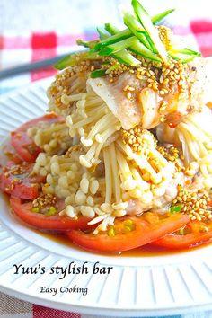 えっ!?これレンジでできちゃうの!?やみつき♡ピリ辛中華ダレ de よだれエノキ豚《簡単★節約》|作り置き&スピードおかず de おうちバル 〜yuu's stylish bar〜 Pork Recipes, Asian Recipes, Gourmet Recipes, Appetizer Recipes, Cooking Recipes, Healthy Recipes, College Meals, Good Food, Yummy Food