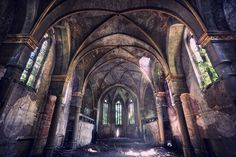 Evanescent Holiness-- by Sven Fennema ---an abandoned church in eastern Germany
