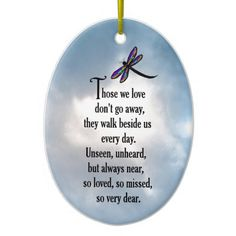 "Dragonfly ""So Loved"" Poem Ornament"