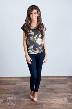#Floral Blouse! | Jane #fashion Find the Affiliate Program Here: https://www.shareasale.com/shareasale.cfm?merchantID=43844