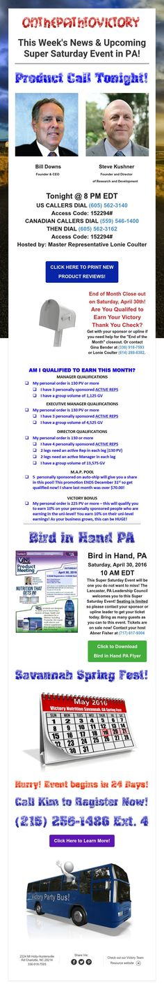 This Week's News & Upcoming Super Saturday Event in PA!