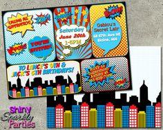 Printable Superhero Birthday Invitation (Digital File Only)