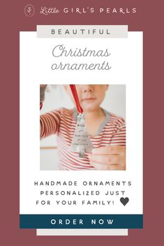 Personalized Christmas Ornaments, Handmade Ornaments, Handmade Christmas, Christmas Tree Ornaments, Christmas Crafts, Christmas Gifts For Girls, Babies First Christmas, Family Holiday, Holiday Traditions