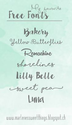 Marlene's sweet things: Meine 7 liebsten Free Fonts