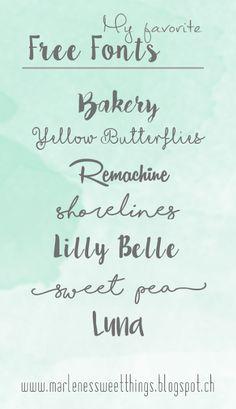 Marlene's sweet things: Meine 7 liebsten Free Fonts