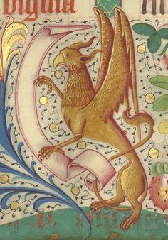 Missel romain, copié en 1492 pour Jean de Foix, évêque de Comminges. | Gallica Medieval Dragon, Medieval Art, Renaissance Art, Fairytale Creatures, Fantasy Creatures, Mythical Creatures, Art Bizarre, Dragons, Medieval Tattoo