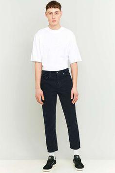 Loom Navy Cord Dad Jeans