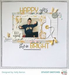 Layout created for Stuck? Sketches using the Felicity Jane Heidi kit Baby Scrapbook, Travel Scrapbook, Scrapbook Cards, Birthday Scrapbook, Christmas Scrapbook, Scrapbook Sketches, Scrapbook Page Layouts, Scrapbooking Ideas, Scrapbook Designs