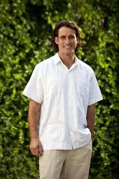 Groomsmen and Best Man Short Sleeve - Classic Cotton Guayabera