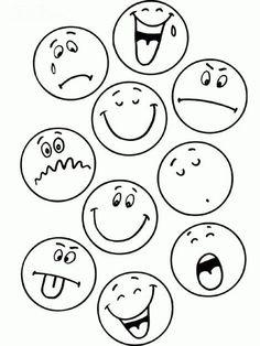 Activities To Teach Kids Emotions Art Drawings For Kids, Drawing For Kids, Easy Drawings, Art For Kids, Teaching Activities, Teaching Kids, Activities For Kids, Emotions Activities, Emoticons