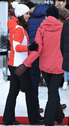 hrhduchesskate: Visit to Norway, February 1-2, 2018-Catherine and Mette-Marit