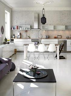 photography: Sveinung Bråthen, via: BONYTT #white #kitchen #contemporary