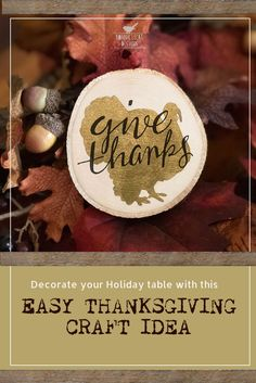Easy Thanksgiving Craft Idea