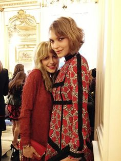 """""""Double trouble: together with Arizona Muse, who was wearing a Valentino dress."""""""