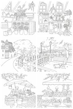 Detailed Coloring Pages, Coloring Book Pages, Coloring Sheets, Pencil Drawings Of Nature, Cool Drawings, Claude Monet, Hand Embroidery Videos, Color By Numbers, Free Printable Coloring Pages