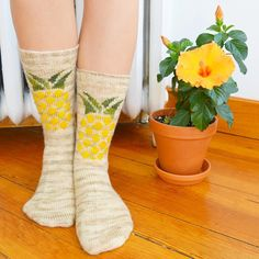 New pattern up on Ravelry today  the pineapple socks! I also wrote a short little blog post about them too. The link to the pattern is in my profile description.