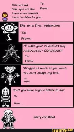 undertale valentines - Google Search