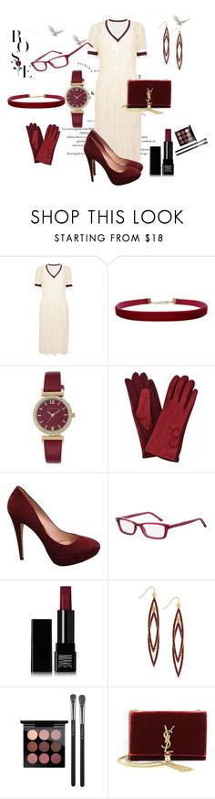 """Burgundy and Cream"" by chauert ❤ liked on Polyvore featuring Baum und Pferdgarten, Humble Chic, Anne Klein, Miu Miu, Make, INC International Concepts, MAC Cosmetics and Yves Saint Laurent"