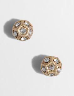 crystal orb stud earrings