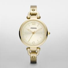 Fossil Georgia Stainless Steel Watch – Gold-Tone