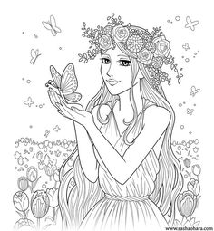 804 Best Fantasy Coloring Pages for Adults images