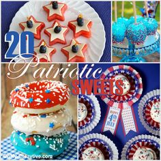 PATRIOTIC FOURTH OF JULY SWEETS AND TREATS