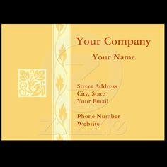 Professional orange leaf business cards from Zazzle.com