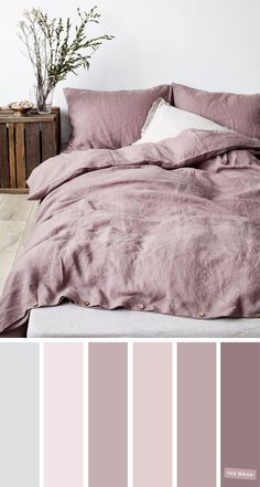 Shades of Mauve Colour Ideas For Bedroom Shades of Mauve Colour Ideas For Bedroom, Mauve color palettte - Beautiful color ideas for bedroom. Very calm and .Looking for new color for your bedroom? Bedroom Colour Palette, Bedroom Color Schemes, Bedroom Paint Colors, Paint Colors For Home, Colour Schemes, House Colors, Mauve Bedroom, Calm Colors For Bedroom, Bedroom Colour Design