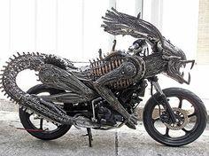 Scrap Metal Alien Motorcycle