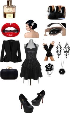 """""""Gothic Lollita"""" by kelly-barzi ❤ liked on Polyvore"""