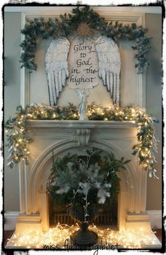 Hometalk:: Christmas Mantle Decorating  ~ This is Gorgeous! Makes me wish I had a mantle, but am thinking of making a wall or something else as a substitute. Hmm. . .  ~