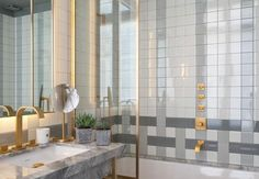 Jean Louis Deniot designed bathroom for the Nolinski Hotel in #paris #interiors #architecture #nolinski