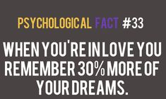 psychological factsYou can find Facts about dreams and more on our website. When Youre In Love, Love You, Physiological Facts, Psycho Facts, Crush Facts, Brain Facts, Psychology Quotes, Facts About Dreams Psychology, Weird Facts About Dreams